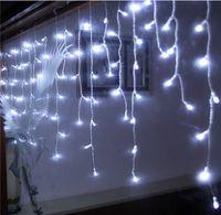 4 متر × 0.75 متر 144 المصابيح عطلة عيد الميلاد حديقة الستار جليد سلسلة أدى أضواء الديكور 8 طرق فلاش للماء AC.110V-220V