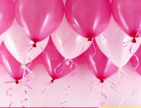 Yüksek kalite ücretsiz kargo 200 adet / grup lateks helyum hariç kalınlaşma inci düğün parti ve 1. doğum günü balonu