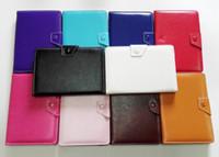 Universal 7 8 9 10 pouces PU Cuir Tablet PC Case Couverture Avec Stand Built-in Carte Boucle pour 7 pouces en cuir stand cas