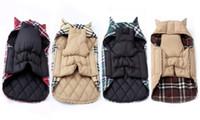 작은 강아지 치와와 야외 방수 대형 개 자 켓에 대 한 패션 격자 무늬 겨울 강아지 코트 애완 동물 옷