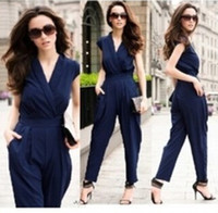 New 2015 Women Jumpsuit Rompers Sexy Coveralls Overalls For ...