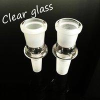 Adaptador de vidrio de adaptador Adaptador de vidrio al por mayor para el adaptador de la caída de los tubos de fumar de cristal con 14 a 14 mm macho a 18 mm hembra