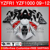 Bodywork For YAMAHA YZF 1000 R 1 YZF- 1000 YZF- R1 09 12 white...