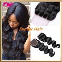 "8A Peruvian virgin hair 4"" x4"" size three part midd..."