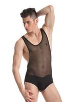 2017 Novos Homens Underwear Desgaste Do Corpo JQK Marca Sexy Undershirts Bodysuits Terno Do Corpo Dos Homens Sexy Sheer Ver Através Desgaste Gay 328