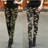 New Summer Fashion Women Pants Female Casual Military Denim ...