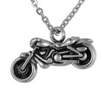 زنبق الفولاذ المقاوم للصدأ خمر الفضة دراجة نارية سحر الحرق مجوهرات رماد قلادة التذكار جرة قلادة مع هدية حقيبة وسلسلة