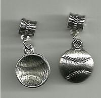 Старинные Серебряный софтбол / Бейсбол подвески подвески для браслет ожерелье ювелирные изделия изготовление бисера бренд DIY аксессуары горячие 100 шт. N995