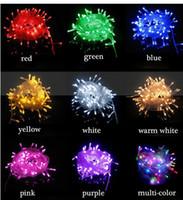 LED 문자열 빛 10m 80LED AC110V-220V 다채로운 휴일 LED 조명 방수 야외 장식 라이트 크리스마스 빛