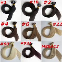 50g 1Set 50Strands Pro bonded Estensioni per capelli a punta piatta 18 20 22 estensioni brasiliane indiane per capelli umani