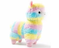 17 cm Gökkuşağı Alpaka Peluş Oyuncak Vicugna Pacos Japon Yumuşak Peluş Alpacasso Koyun Lama Dolması Oyuncak Hediyeler çocuklar ve Kızlar için