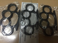 DHL Shipping 10PCS Silver and Black Thin Steel Brass knuckle...