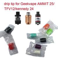 810 de calibre ancho de silicona desechable Drip Tip cubierta de la boquilla de goma de colores Prueba Caps con el paquete individual para TFV / Kennedy / Goon / 528 RDA