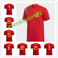 hot sale Spain world cup jersey 2018 INIESTA RAMOS home red ...
