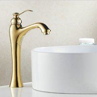 Golden Plated Faucets Bathroom Sink Basin Brass Faucet crane...