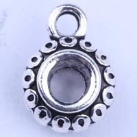 DIY retro charme zilver / koper grote gat kralen hanger fit armbanden ketting metalen sieraden maken 1000pcs / lot gemengde groothandel 2930y