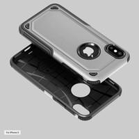 Cas d'armure hybride pour iphone x iphone 8 plus pour Samsung Galaxy Note 8 S8 plus TPU + PC 2IN1 couverture de téléphone D