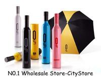 Freies Verschiffen 50pcs / lot Art- und Weisekreativer Flaschen-Regenschirm- / Wein-Flaschen-Regenschirm 41 Arten für das Wählen
