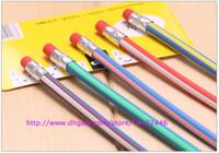 300pcs un montón de plástico lápiz creativo de los efectos mágico lápiz suave flexible fácilmente la curva de lápiz de goma Torsión del color del caramelo, envío libre