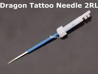 Frete grátis 50 pcs máquina de tatuagem Dragão maquiagem permanente Agulha 2R e 50 pcs cobre agulha