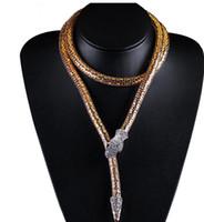 Преувеличенные золотые серебряные цепи змея ожерелье длинные ожерелья подвески мода ювелирные изделия аксессуары для животных
