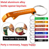 Free shipping mixed colors Aluminum alloy bottle openers wit...