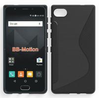 BlackBerry 모션 전화 케이스 S 라인 소프트 TPU 스킨 젤 실리콘 백 쉘 커버