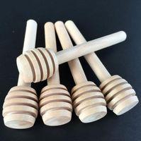 8cm مقبض طويل مصغرة ملعقة خشبية خلط العسل عصا العسل الغطاسون ملعقة عصا العسل جرة عصا