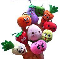 100PCS / LOTFruit Veggie marionetas de dedo conjunto Marioneta de dedo / Muñecas / Juguetes Accesorios de narración / Herramientas Modelo de juguete Bebés / Niños / Juguetes de niños, Fruta