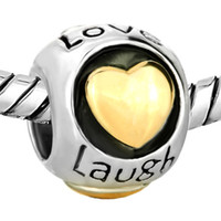 Butterfly Live Love Laugh Smile European Bead Fit Pandora Ch...