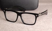 I nuovi occhiali da vista cornice cromata per occhiali degli occhiali per gli uomini donne miopia Occhiali telaio lente chiara con il caso originale 08