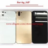 Bir kalite Arka Kapak Konut iPhone 6 6 s 6 p Gibi X 10 stil Alüminyum Metal Arka Pil Kapı Kapağı Değiştirme