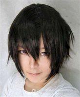 Erkekler için sentetik saç peruk gümüş beyaz siyah kısa cosplay peruk isıya dayanıklı kanekalon sentetik peruk tenis Prens anime peruk erkekler