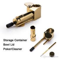 저렴하지만 고품질 금관 악기 프로토 파이프 금속 건조 허브 흡연 담배 파이프 황금 Siliver 색상, 유리 봉, 수도 관 액세서리