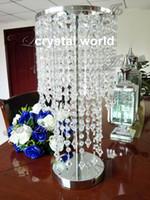 ¡Nuevo! Centro de mesa de cristal elegante boda cristal soporte boda centros de mesa 234