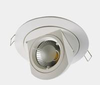 10 Вт заподлицо COB светодиодные вниз лампы 110 В 220 В карданный регулируемая лампа слон ствол утопленные потолочные светильники для кухни CE ROSH FCC