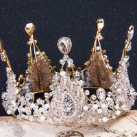 Jane Vini coronas y tiaras de la reina del barroco de la vendimia para las mujeres joyería de la cabeza de cristal de diamantes de imitación accesorios para el pelo de la boda accesorios para el cabello bruid