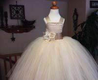 고품질 흰색 꽃의 소녀가 드레스 2015 스파게티 스트랩 공주 소녀 미인 대회 드레스 아이 웨딩 파티 가운