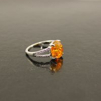 Free delivery of the Victorian era of oval crystal amber sto...