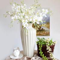 أنيقة الرقص فالاينوبسيس الاصطناعي الحرير الزهور عيد الميلاد زخرفة المنزل باقة الزفاف المركزية زينة لوازم 5 اللون
