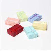 Caixas de presente de Jóias 5 * 8 * 2.5 cm Colar Anéis Brincos Caixa De Embalagem Cajas De Regalo para o Natal Ano Novo Atacado 0655WH