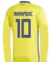 Nuevos llegados. Manga larga 2018 Suecia ZLATAN IBRAHIMOVIC camiseta de  fútbol ... 72c00468cf68e