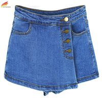 Wholesale- High Waisted Denim Shorts For Women 2017 Summer S...