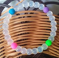 상어 Neno 비드 실리콘 팔찌 균형 전원 믿음 다채로운 밸런스 파워 팔찌 Neno 디자인 크리스탈 매력 안티 피로 팔찌