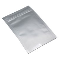 10*17. 5cm Pure Aluminum Foil Self Seal Ziplock Bag Silver My...