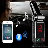 BC06 블루투스 차량용 키트 차량용 스피커 BT 핸즈프리 듀얼 FM 송신기 포트 5V 2A AUX-IN 음악 플레이어 삼성 아이폰 모바일 들어