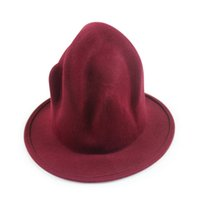 Wholesale- Stage props men' s black wool tube fedoras Buf...