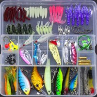 Fishing Lure Kit Metal Lure Soft Bait Plastic Lure Wobbler S...