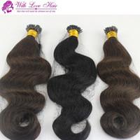 """1 пучок пакет 8-30 """" двойной нарисованный кератин Fusion Stick Tip I-Link наращивание волос объемная волна Индийский Реми прямой I - образный I-наконечник"""