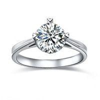 925은 반지 2 랏 공주 컷은 실버 sona 시뮬레이션 다이아몬드 약속 약혼 반지, 14k 화이트 골드 도금 반지